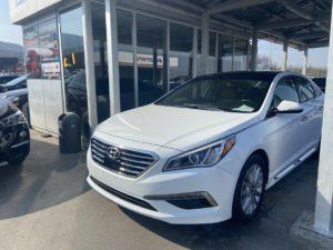 Hyundai Sonata Sport-Limited - 2015 White 2.4L